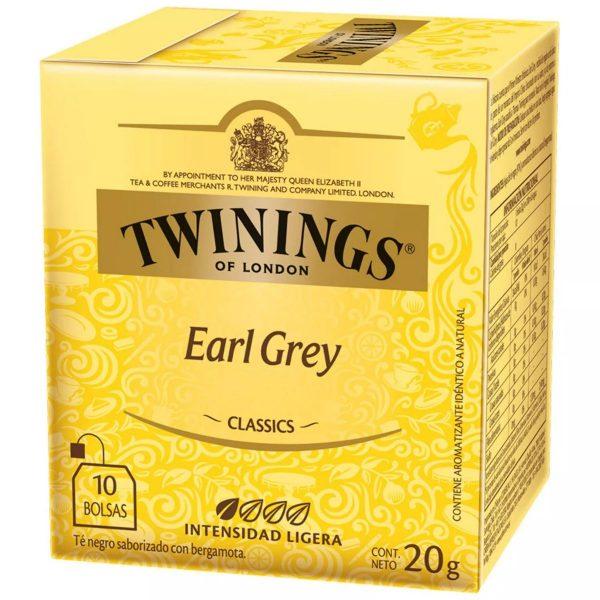 té twinnings earl grey 10 bolsas